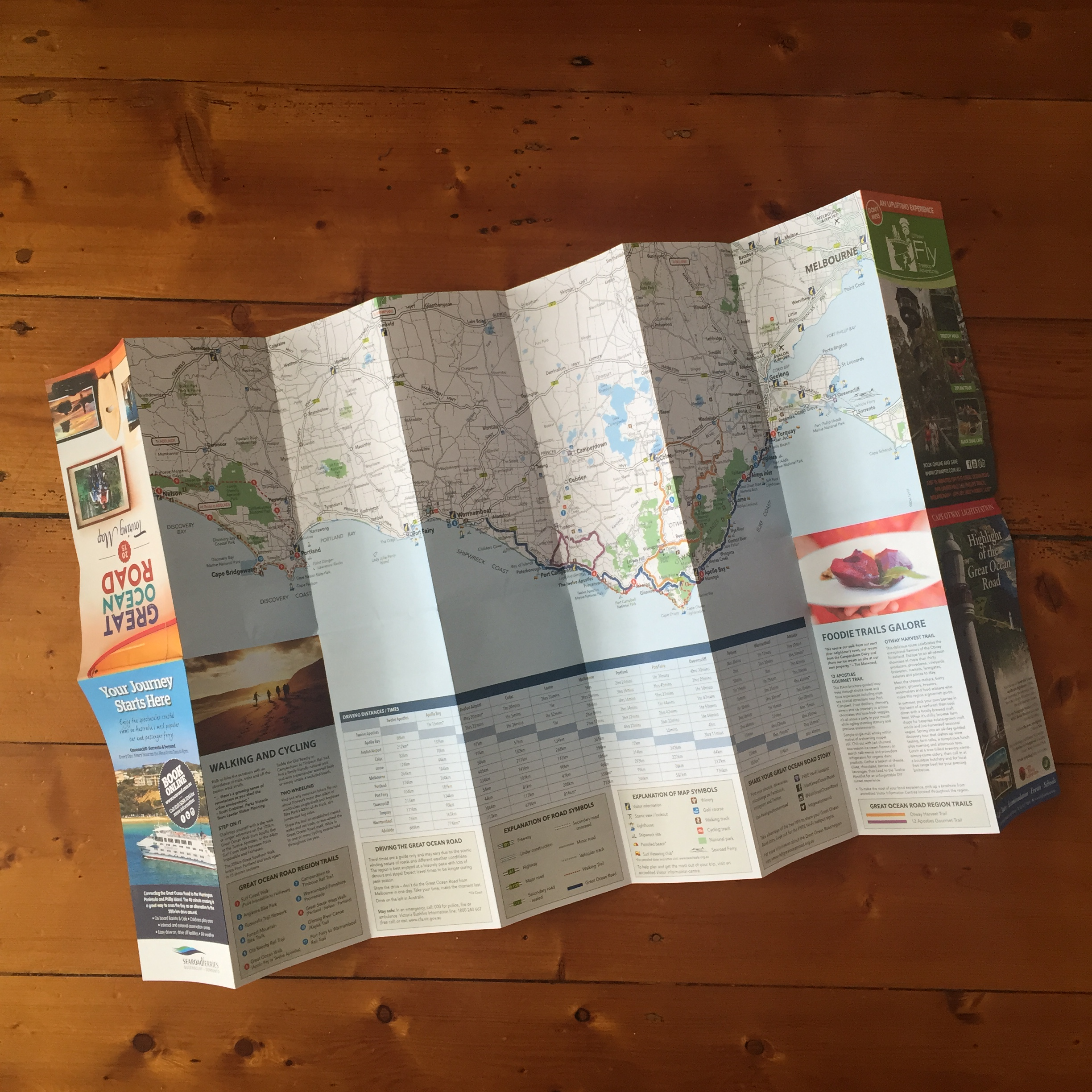 Great Ocean Road Touring Map  OVER THE PAGE