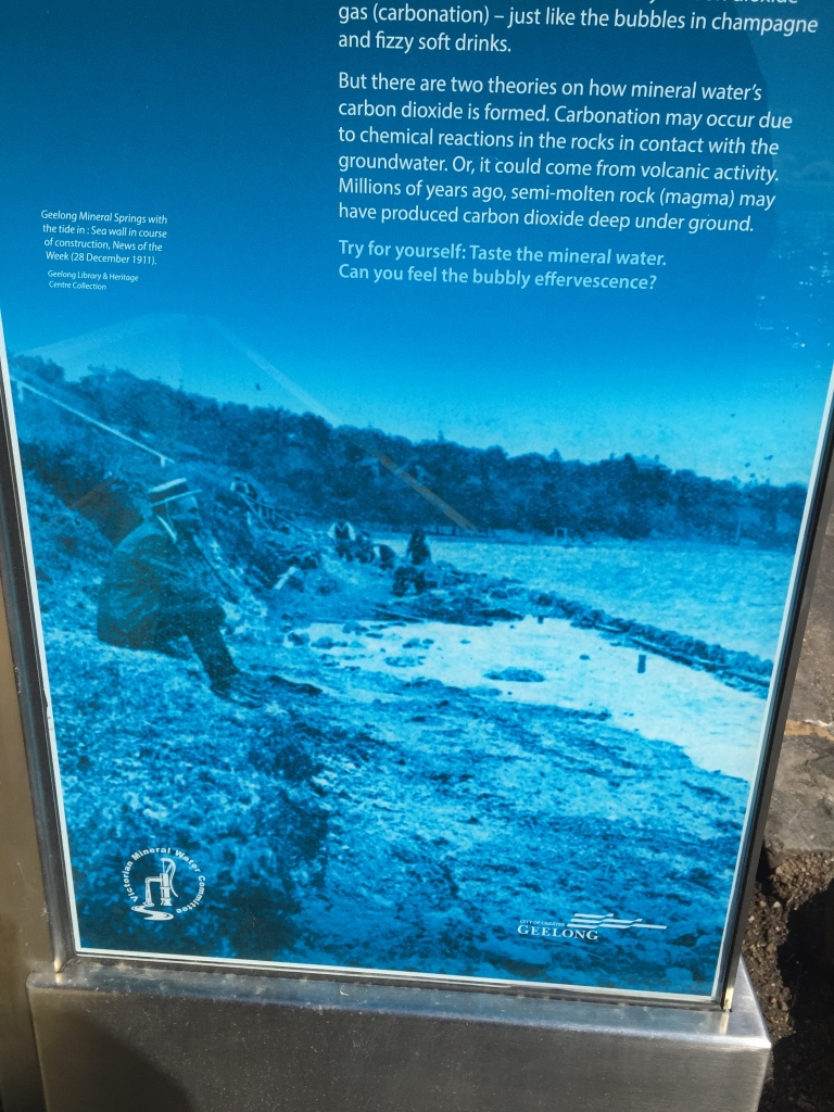 Eastern Beach Mineral springs, interpretive signage geelong, intepretation geelong, copywriter geelong